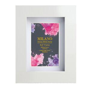 4x6 MILANO GLOSSY WHITE Photo Frame