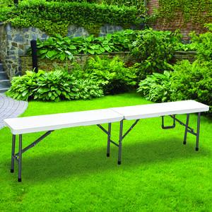 1.8M White Foldable Bench