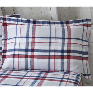 Brushed Cotton Tierney Check Oxford Pillowcases