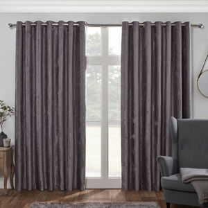 Blackout & Thermal Textured Curtains - Slate