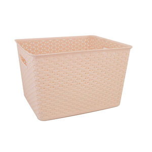 Geometric 19L Blush Basket