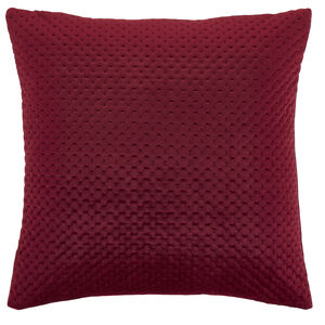 Velour Stitch Berry 58x58 Cushion