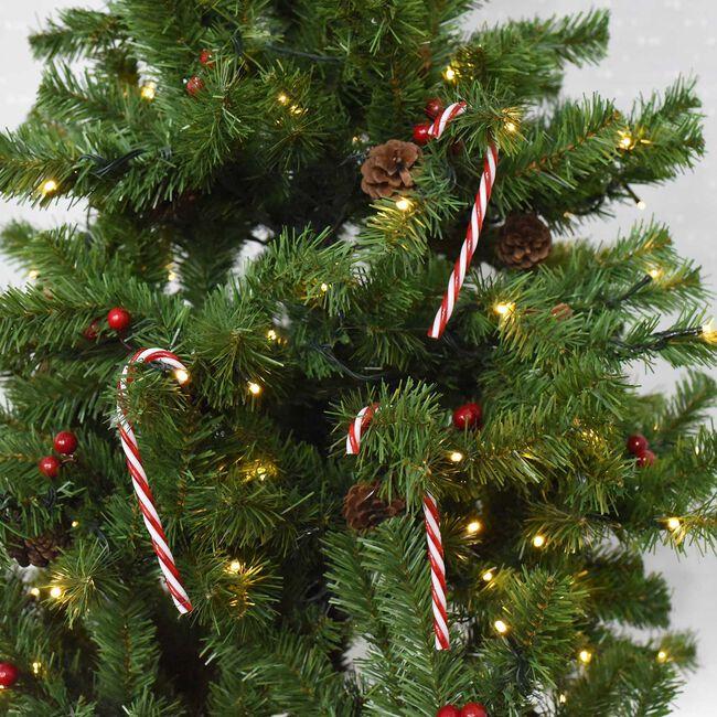 Candy Cane Tree Decorations - 6 Pack