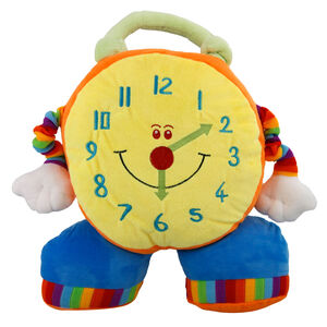 Clock Cushion Multi 28cm x 28cm