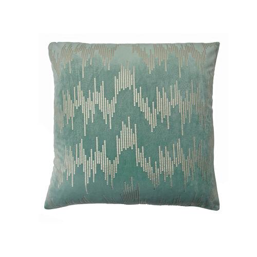 Sequin Velvet Cushion 45x45cm - Duck Egg