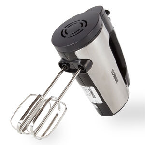 Tower Stainless Steel Hand Mixer 300W