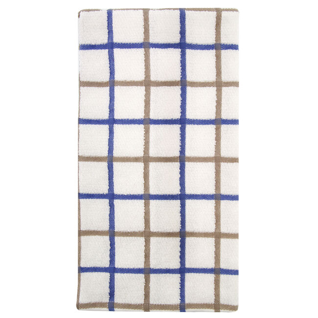 Multi Check Tea Towel Blue