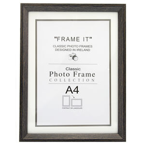 Aged Dark Photo Frame A4