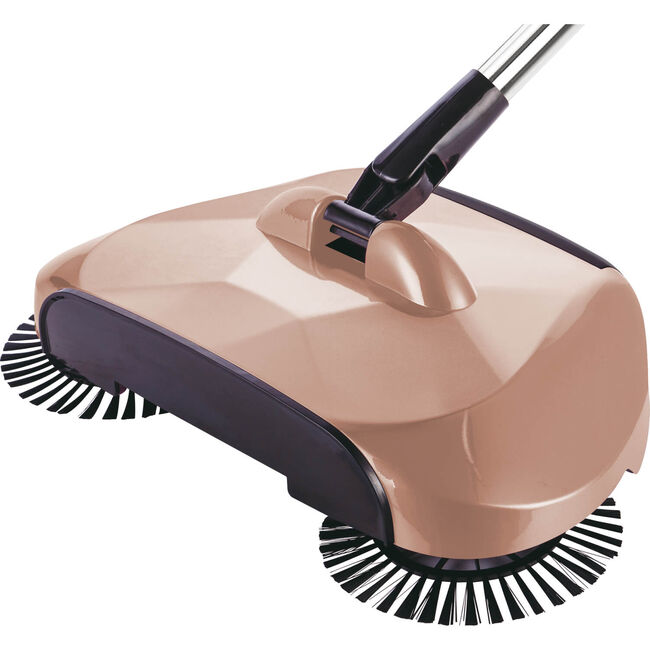 360 Degree Swivel Floor Sweeper Glossy Gold