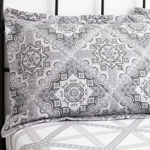 Ice Crystal Grey Pillowshams