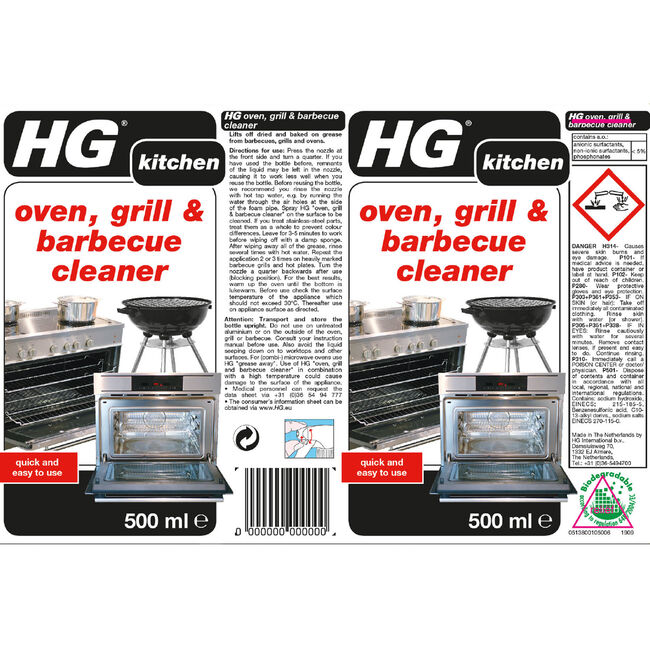 HG Oven, Grill & BBQ Cleaner 0.5L