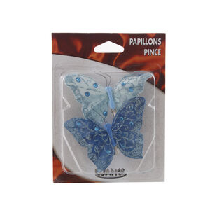 Butterfly Turquoise Curtain Clips 2 Pack