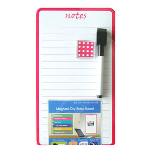 Magnetic Whiteboard Notes Pink 14cm x 25cm