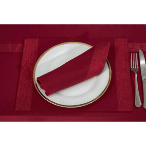 Shimmer Trim Red Placemat 2PK