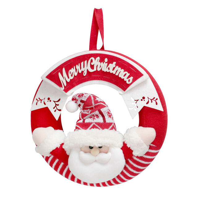 Merry Christmas Santa Wreath 11""