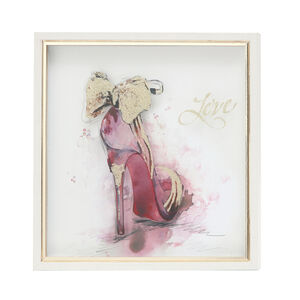 Stiletto Print Framed 33X33cm