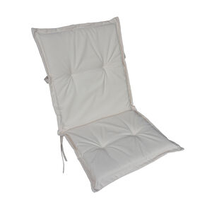 Low Back Cream Chair Cushion 100cm x 48cm x 4cm
