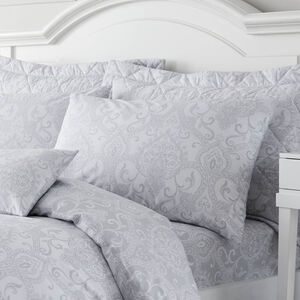 Tess Oxford Pillowcase Pair - Grey