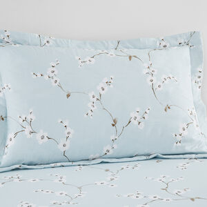 Blossom Oxford Pillowcase Pair - Duck Egg