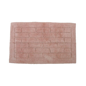 Cotton Brick Peach Bath Mat 50cm x 80cm