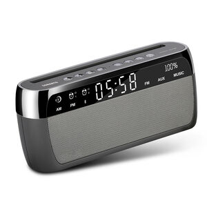 Sonarto 10W Bluetooth Alarm Clock Speaker