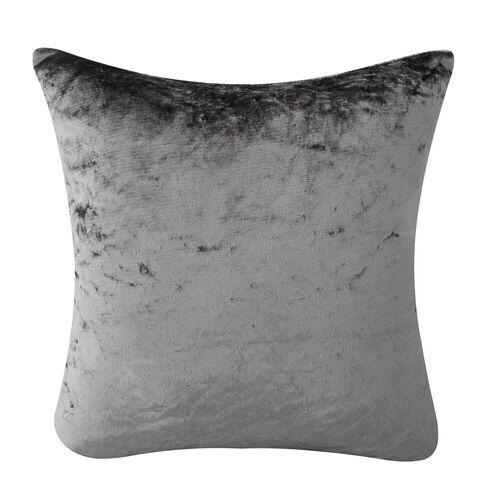 Velvet Crush Cushion Cover 2 Pack 45x45cm - Silver