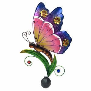 Decorative Glass Solar Butterfly Wall Art