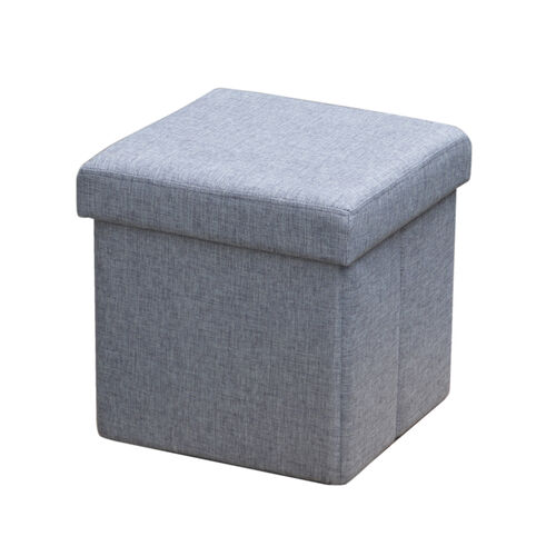 Deluxe Charcoal Grey Folding Ottoman