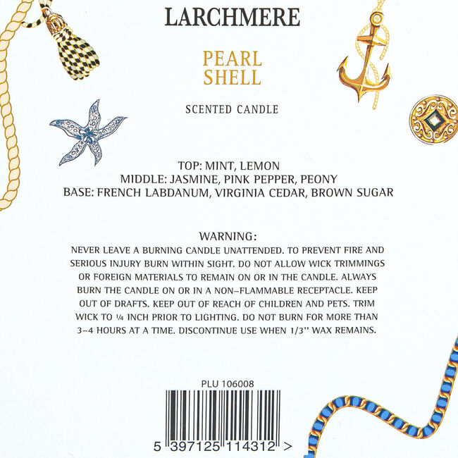 Larchmere Peal Shell Scented Candle