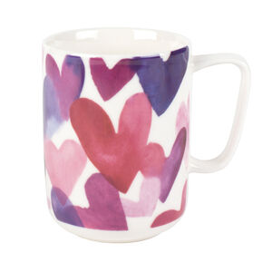 Devon Multi Hearts Pink Mug