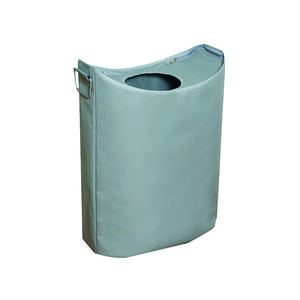 Oval Laundry Hamper Light Grey
