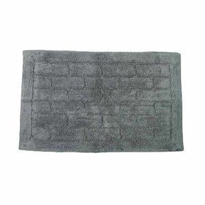 Cotton Brick Steel Bath Mat 50cm x 80cm