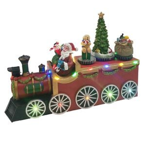 Animated Light Up Santa's Christmas Train