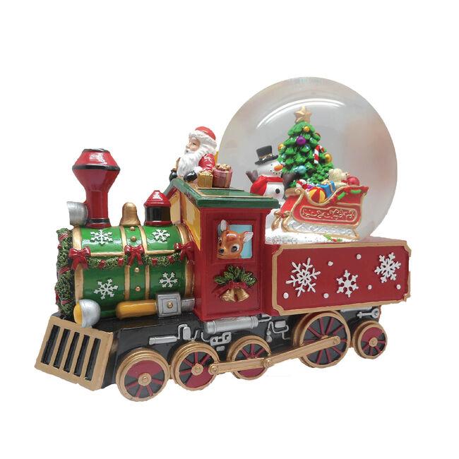 Large Musical Christmas Train Snow Globe