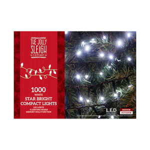 1000 White LED Star Bright Compact Lights