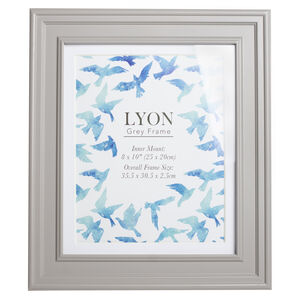 Lyon Grey Photo Frame 8x10""