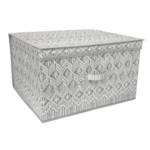 Macrame Foldable Storage Chest