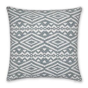 Aztec Cushion 58x58cm - Duck Egg