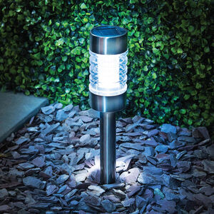 Gunmetal Finish Solar Stake Light