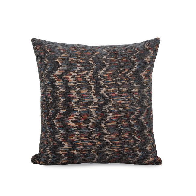 Iona Chevron Cushion 43x43cm - Grey