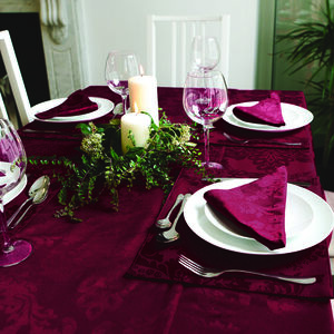 Textured Damask Table Cloth