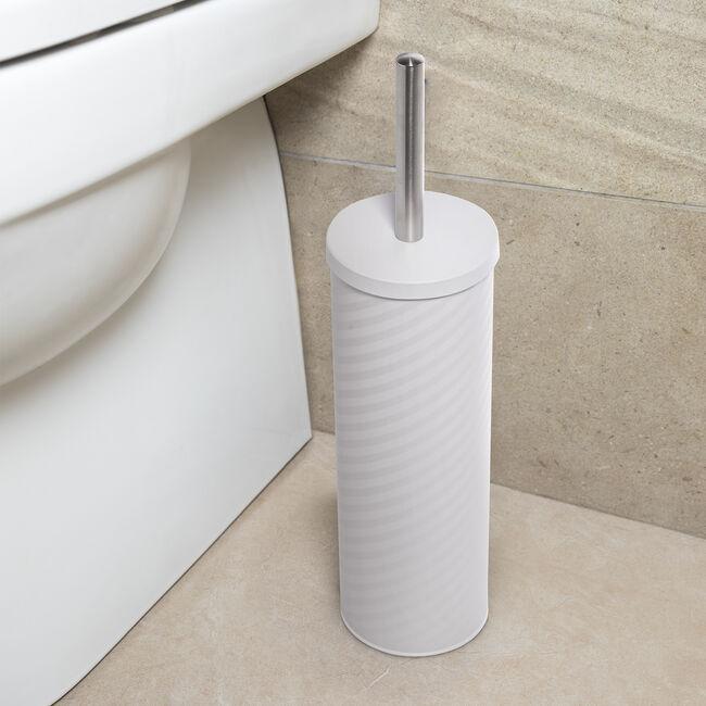 Stripe Toilet Brush - White