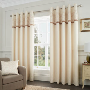 QUILTED ROSE CREAM/GOLD 66x54 Curtain