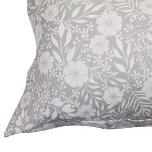 Flower Romance Grey Oxford Pillowcase Pair