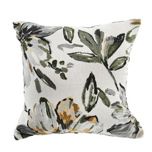 AOIFE FLORAL GREY/ORANGE 45x45 Cushion