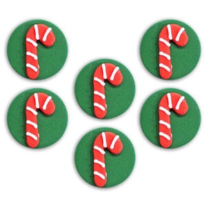 Candy Cane Sugarcraft Toppers