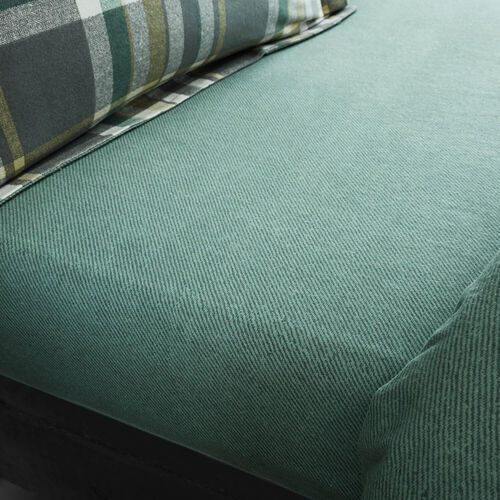 BRUSHED COTTON NAUGHTON CHECK Single Fitted Sheet