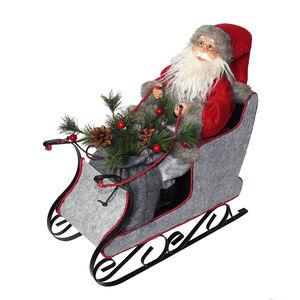 Santa on Sleigh 45cm