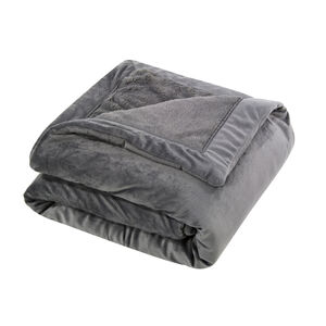 Nicole Day Luxury Charcoal Throw
