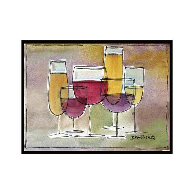 Wine Glass Worktop Saver Glass